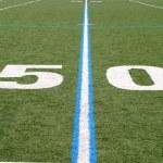 Football Field Fifty — Stock Photo #1632256