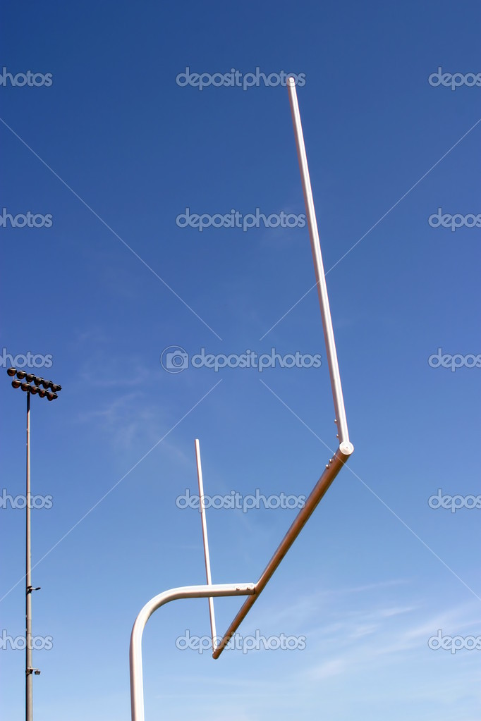 American football goal with the sky as a background. — Stock Photo #1632398