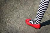 4. července noha — Stock fotografie