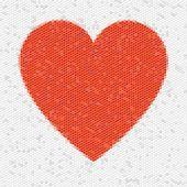 Hexágonos de mosaico de coração — Foto Stock