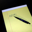 Notepad Pen Help - Stock Photo