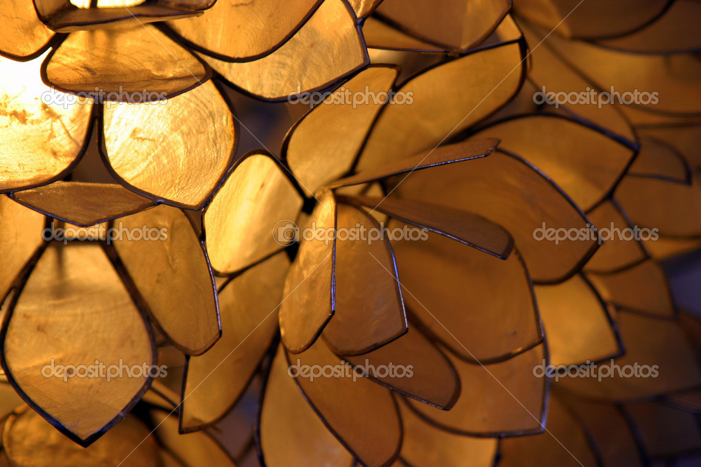 Close up of an orange brown lamp.  Stock Photo #1833303