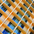 Scratchy Hotel Facade — Stock Photo