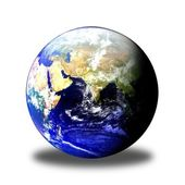 Earth Globe East Shadow — Stock Photo