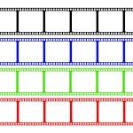 ������, ������: Film Stripe Colors
