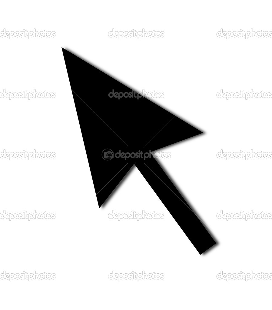 Black mouse pointer png