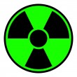 Radiation Warning Sign — Stock Photo
