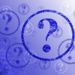 Question Mark Background — Stock Photo #2424847