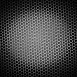 Honeycomb Background BW - Stock Photo