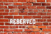 Brick Wall Reserved — Stock Photo