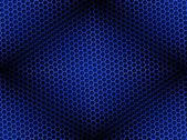 Honeycomb Background Seamless Blue — Foto Stock