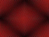 Honeycomb Background Seamless Red — Foto Stock
