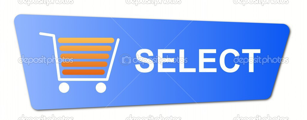 Blue Select Button - Stock Image