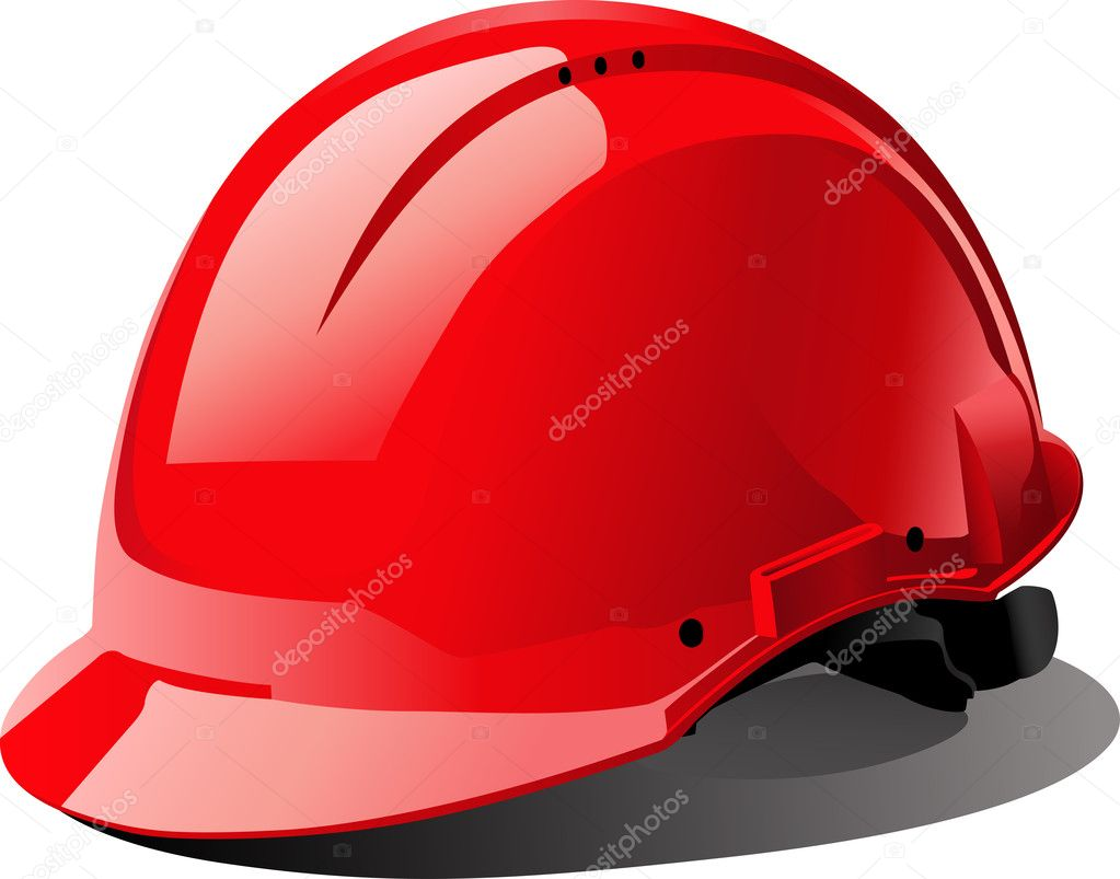The red bright helmet  — Stock Vector #1297681