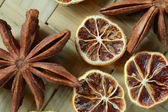Lemon with star-anise — Stock Photo