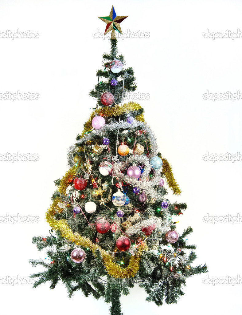 Christmas tree with ornaments — Stock Photo #1298226