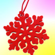 Christmas door ornament — Stock fotografie