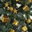 Foto Stock: Christmas tree ornaments