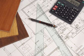 Construction plans — Stock Photo