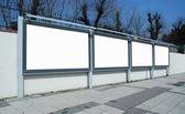 Advertising panels — Stock Photo