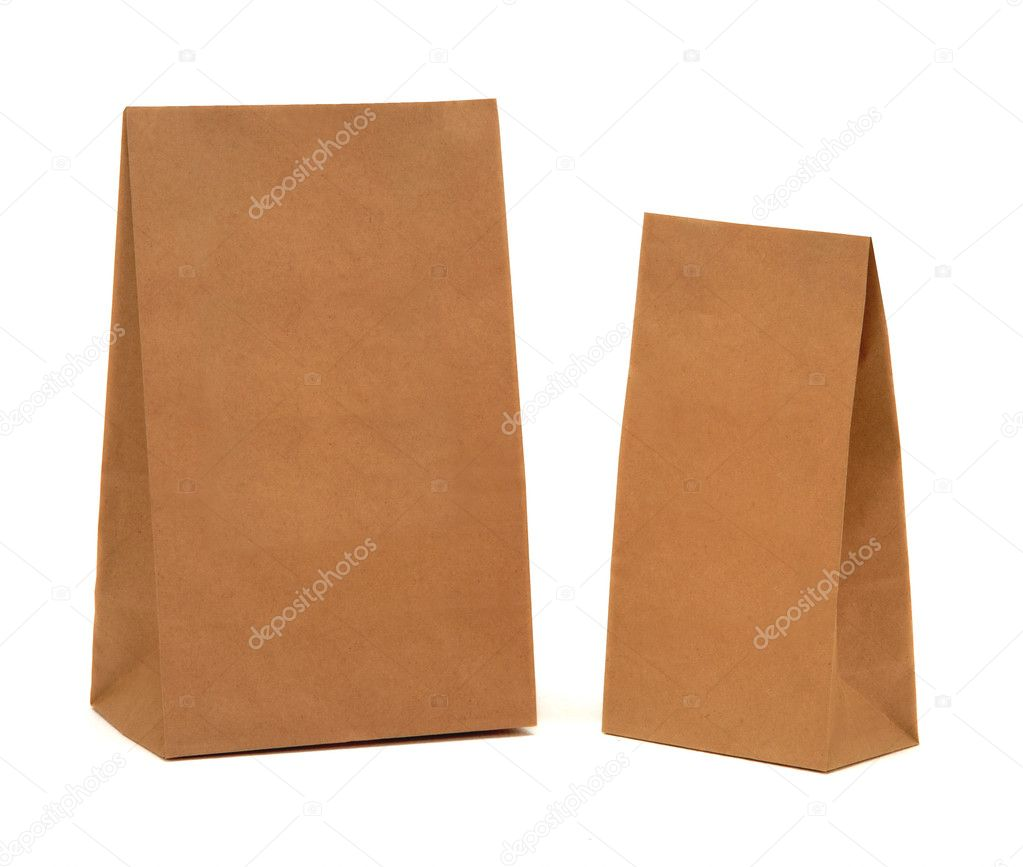 Paper packages isolated at white — Stock Photo #1310559