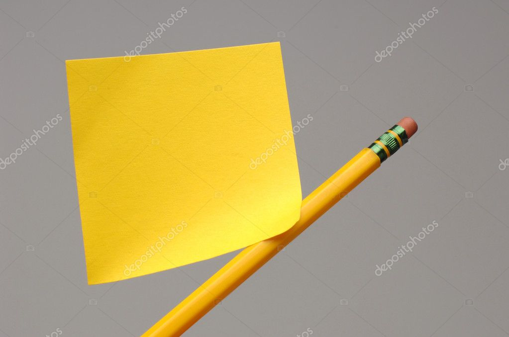 Notepaper and pencil  Stock Photo #1332988