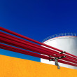 Stock Photo: Petrolium tanks