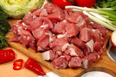 Meat pieces — Stockfoto