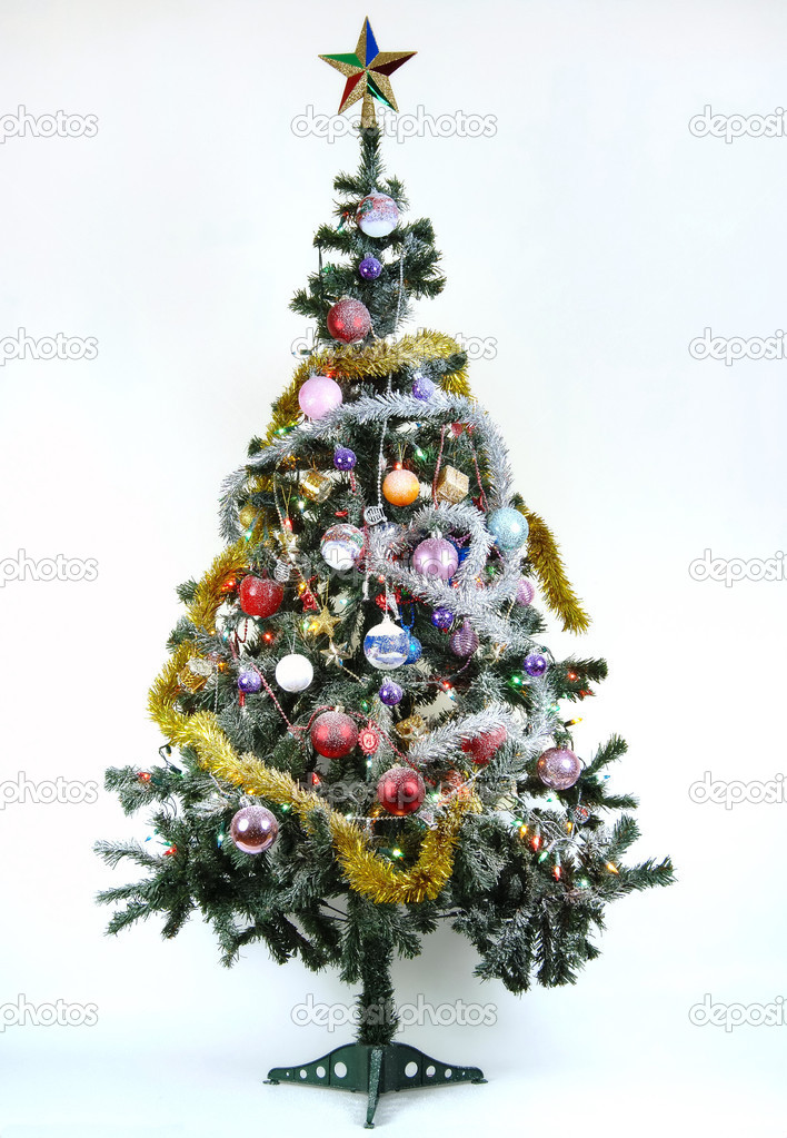Christmas ornament tree for new year — Stok fotoğraf #1412455