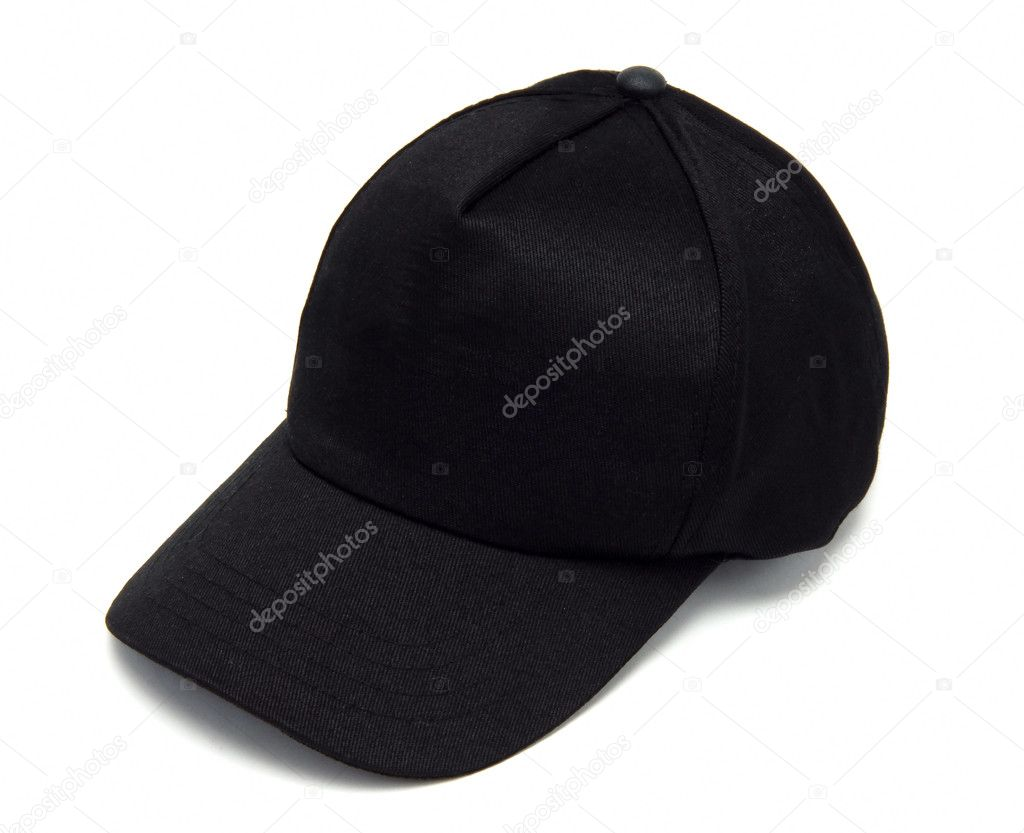 Black sport man hat isolated at white background  Stock Photo #1596616