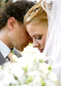 Timid embrace Honeymoon — Stock Photo