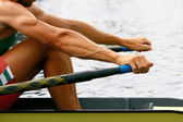 Academic oar in the water — Stock Photo