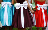 Three dresses — Stock Photo