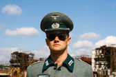 Germanic officer of the Second World War — Stock Photo