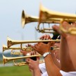 Musicians trombonists. - Stockfoto