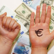 Euro or dollar. - Stock Photo