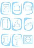 Household appliances. — Stock Vector