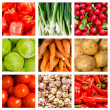 collage de verduras frescas — Foto de Stock