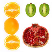 Collage of fresh fruit — Stock Photo