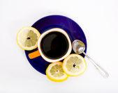 Tee mit zitrone — Stockfoto