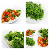 Fresh frozen vegetables — Stockfoto