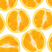 Collage of cut-oranges on a white backgr — Stock Photo