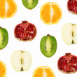 Cut in half fruit — Stock Photo