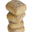 Royalty-Free Stock Photo: Four oven fresh wheat rolls