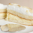 Lemon cake with meringue frosting — Stock Photo