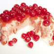 Red currant ice cream dessert - Stock Photo