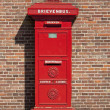 Retro Dutch Red Mail Box - Stock Photo