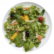 Salad with fruit and honey dressing - Stock Photo