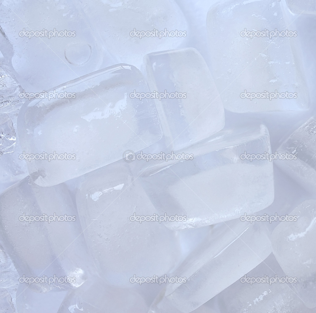 Ice cubes close-up, to use as a background  Stock Photo #1354847