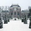 18th century estate in winter — Stock Photo